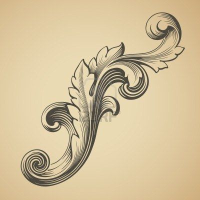 Vector Vintage Baroque Design Frame Pattern Element Engraving.. Royalty Free Cliparts, Vectors, And Stock Illustration. Image 13248964.