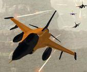 Avion de Chasse Orange Unity 3D