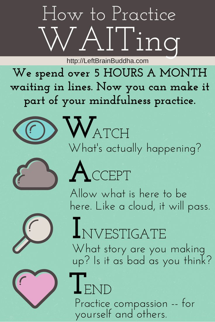 Practice #mindfulness while waiting in line!