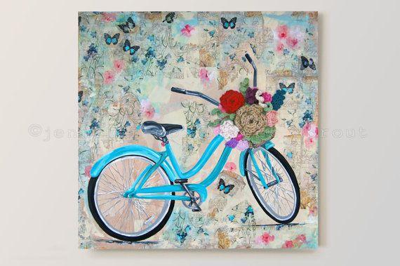 Vintage Teal Schwinn Bicycle Butterfly Bike von sweetdashsprout