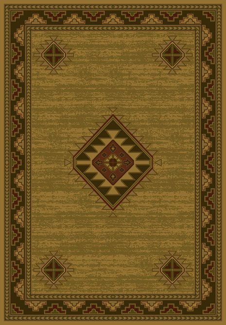 Laramie Gold Area Rug buy Southwestern #rugs at Lights in the Northern Sky http://www.lightsinthenorthernsky.com