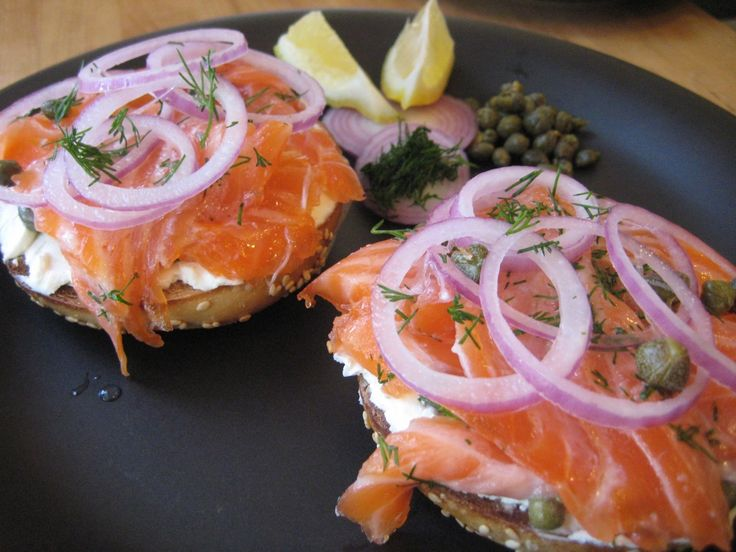 I've been making homemade lox (technically gravlax, because I cure them only in salt and sugar, rather than curing them and cold smoking them like nov...