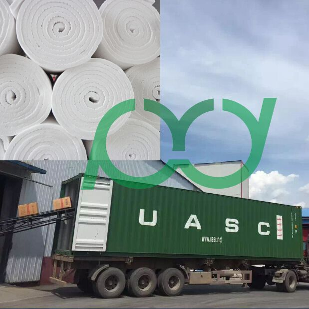 Container Loading of ceramic fiber blanket
