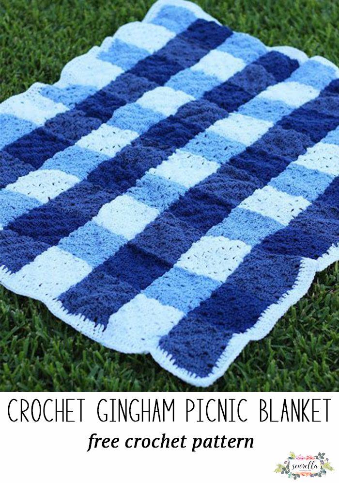 Crochet Gingham Picnic Blanket Blogger Crochet Patterns We Love