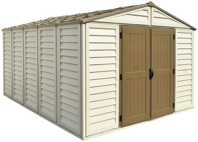 Duramax 10x13 Woodbridge Plus Vinyl Shed Kit W Foundation 40234 Vinyl Sheds Shed Kits Shed