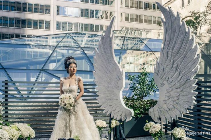 White Angel Wings photoshoot for the Wedluxe magazine by Flowers Time #toronto#fashion#wedding#bride#sculpture#3dfoam#3d#wedding#event