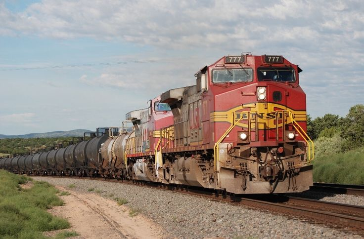 https://flic.kr/p/21F1j87 | BNSF C44-9W 777 | 8/2010 BNSF Eastbound Ethanol Train passes through Abo, NM with Warbonnet C44-9W 777 leading the way, Chris Martin & myself took a vacation in August of 2010 mostly to visit The Apache Railway & Copper Basin Railway in the desert southwest with some BNSF mixed in