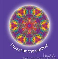 I focus on the positive. #mandala #affirmations