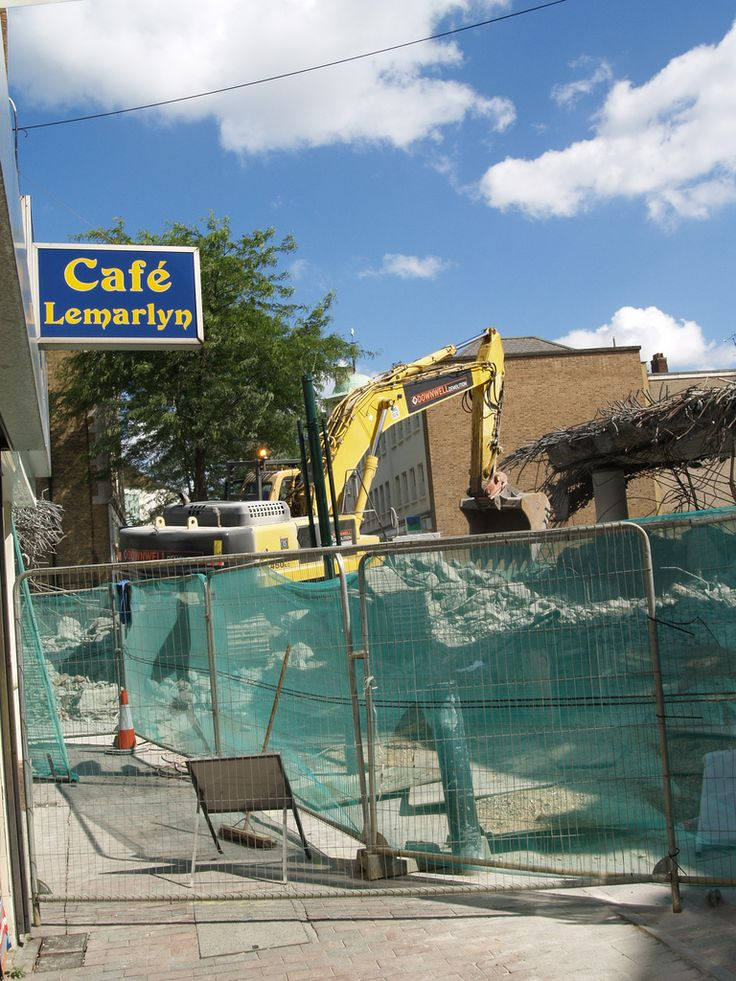 Demolition of the Sir John Hawkins flyover Chatham town centre [shared]