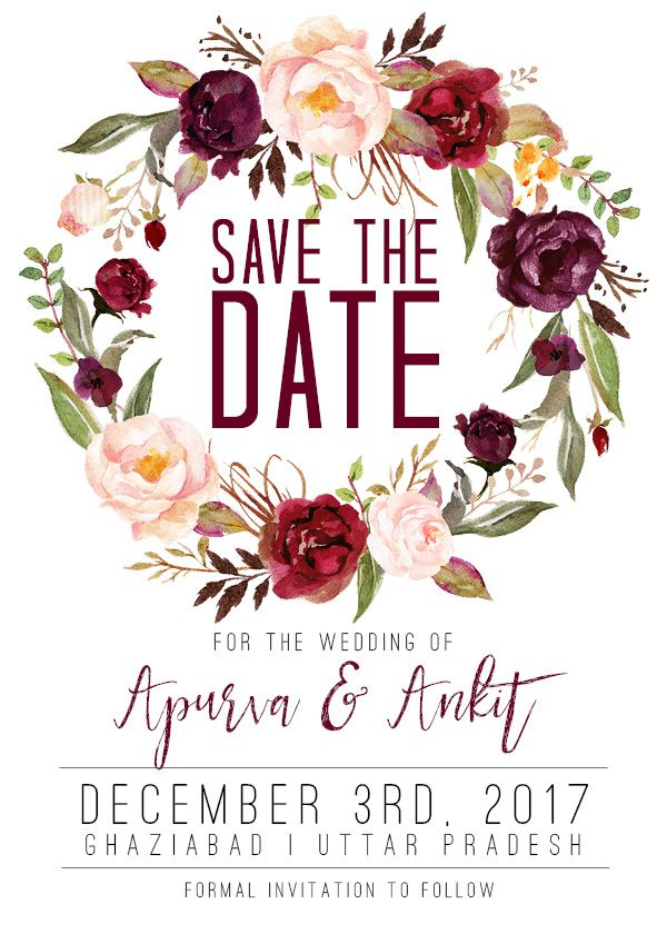 Midnight Blooms Save the Date