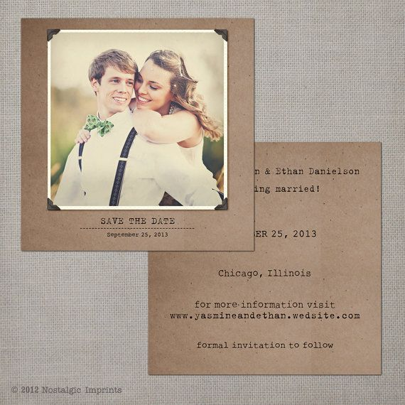 Vintage Save the Date Card  the Yasmine 2 by NostalgicImprints