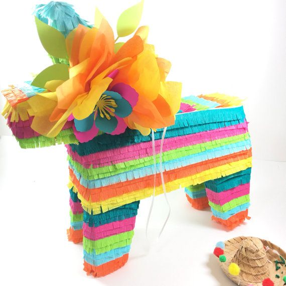This 15 donkey piñata is an amazing addition to your fiesta! Each piñata has a string to hang and a trap door at the back to open and fill. Also makes a great centrepiece or decoration! Request as may colors as youd like to match your theme. One metallic accent allowed. All gold or metallic piñatas available upon request at an extra charge. Contact me for any special requests. ♥♥♥HOW TO ORDER♥♥♥  When you order, please list the following in the notes:  1. Color Requests (as many colors as…