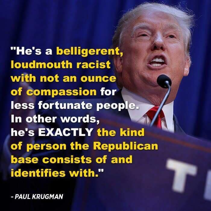 Image result for paul krugman quotes about trump