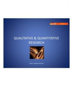 A good brief PowerPoint to recap on qualitative and quantitative research. It identifies the characteristics, goals, advantages and disadvantages of both and goes further into the projective techniques of qualitative research that can be used. (793)