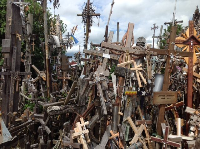 The Hill of Crosses counts over 100,000 crucifixes, carvings, statues and rosaries that have been placed there by the devoted - Photo by Peeter Vanker, Group Escort