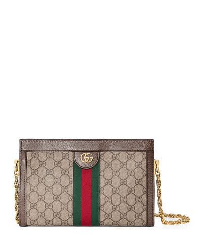 6a46b1b9bd1 GUCCI LINEA DRAGONI SMALL GG SUPREME CANVAS CHAIN SHOULDER BAG.  gucci  bags   shoulder bags  leather  canvas  silk  lining