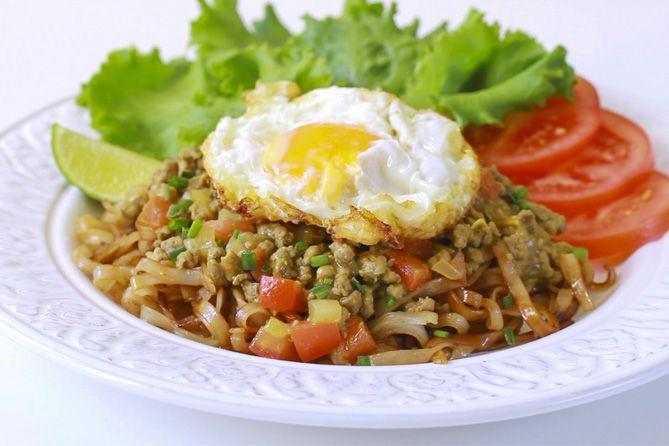 Noodles con ternera y salsa de curry