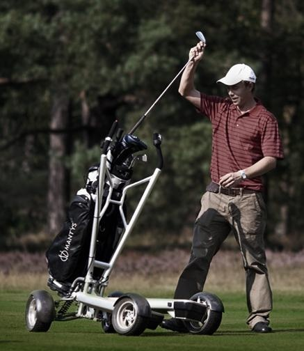 Motorized Golf Cart Scooter Mantys Is A Compact Foldable