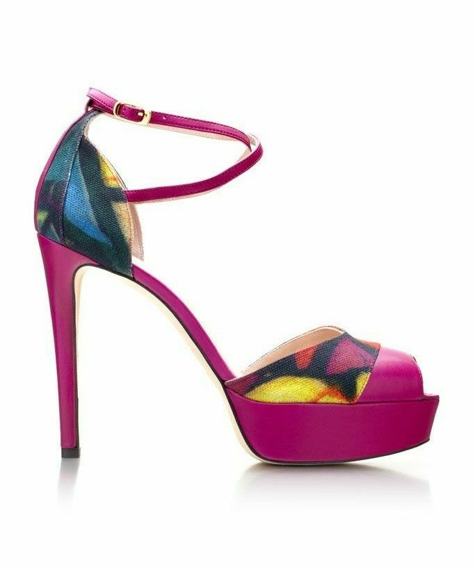 Pumps & High Heels for Women On Sale in Outlet, Pink Fluo, Leather, 2017, 7.5 Saint Laurent