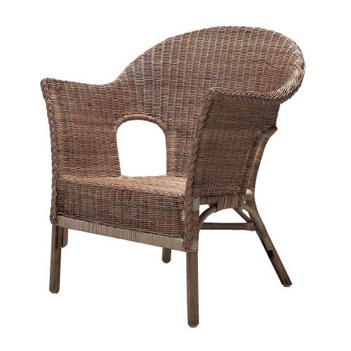 HÄSTVEDA Armchair IKEA Handwoven; each piece of furniture is unique. Stackable.  Saves space when not in use.