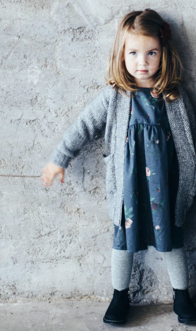 Handmade Girls Floral Fall Winter Dress | TinyBunnyKids on Etsy