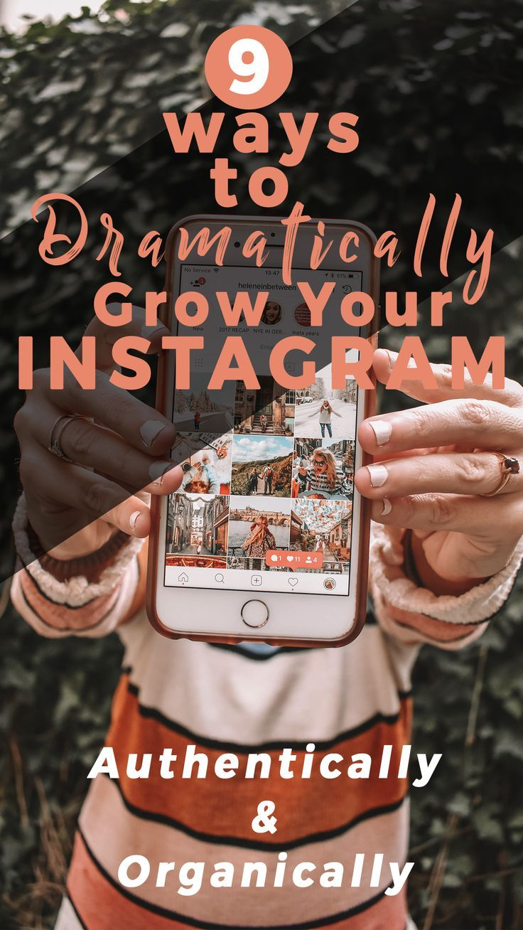 Instagram is the best way to grow your blog or business. Here are 9 ways to dramatically grow your Instagram and beat the algorithm! #instagramtips #Instagram #instagrammarketing #growyourinstagram