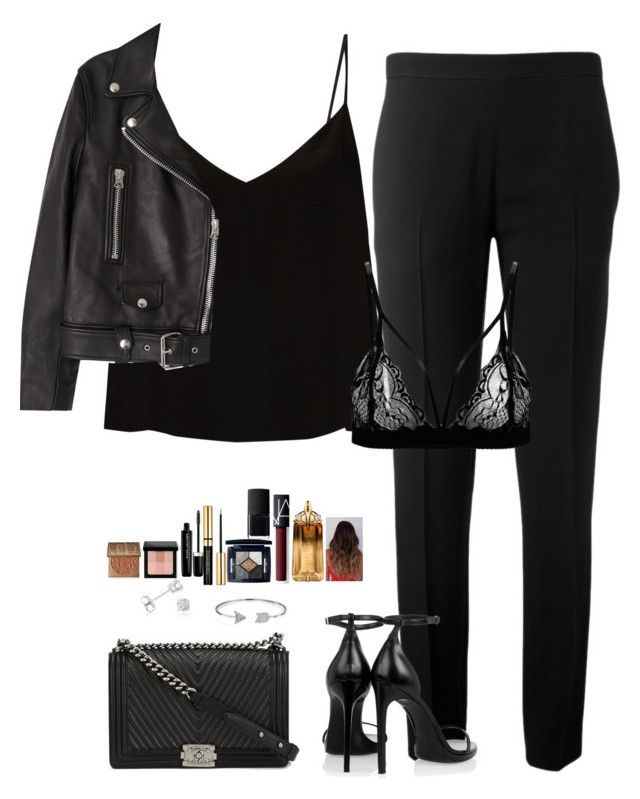 """""""Untitled #463"""" by mariapangal on Polyvore featuring Chloé, Raey, Acne Studios, Yves Saint Laurent, Chanel, Bling Jewelry, Amanda Rose Collection, NARS Cosmetics, Christian Dior and Marc Jacobs"""