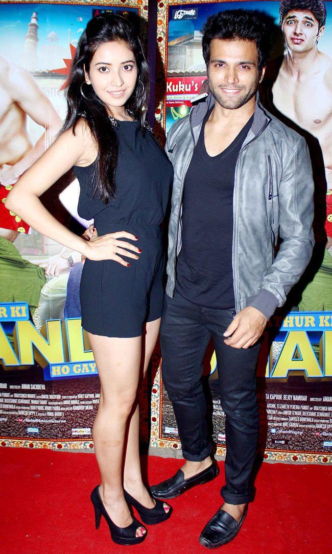 Rithvik Dhanjani and Asha Negi at special screening of 'Kuku Mathur Ki Jhand Ho Gayi'. #Style #Bollywood #Fashion #Beauty