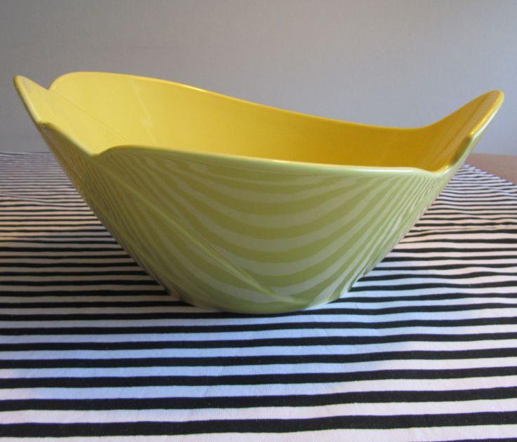 Tuuli Bowl, yellow, Heljä Liukko-Sundström 1980s, Arabia Finland