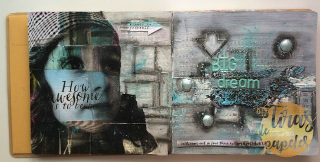 art journal con tecnicas mixed media