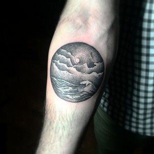 You can hold onto perfect evenings by the water. | 33 Stunning Landscape Tattoos That Will Remind You Of Home