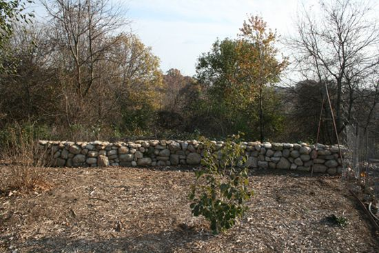 It took several weeks, and many broken fingernails, but I managed to build my own small rock wall in our garden from fieldstone collected around our home.
