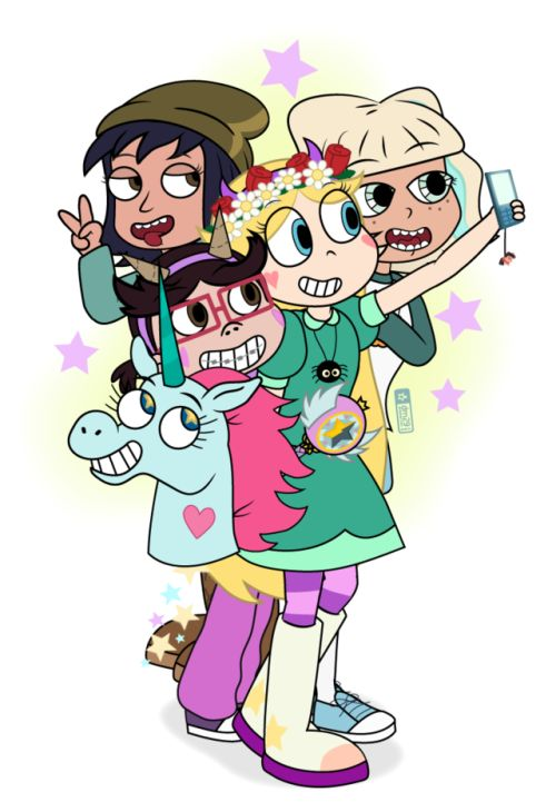 "judacris: "" Star Butterfly and her girl friends, in dedication to Daron Nefcy, somehow just the second woman to develop a Disney animated series in 15 years. A shoutout to the other women in animation including Lauren Faust, Rebecca Sugar, and..."