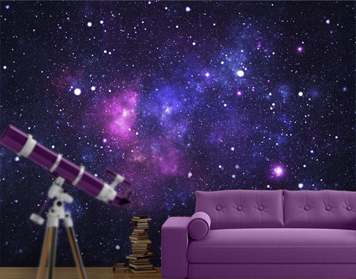photo wall mural galaxy wallpaper wall art wall decor outer space stars cosmos photo walls. Black Bedroom Furniture Sets. Home Design Ideas
