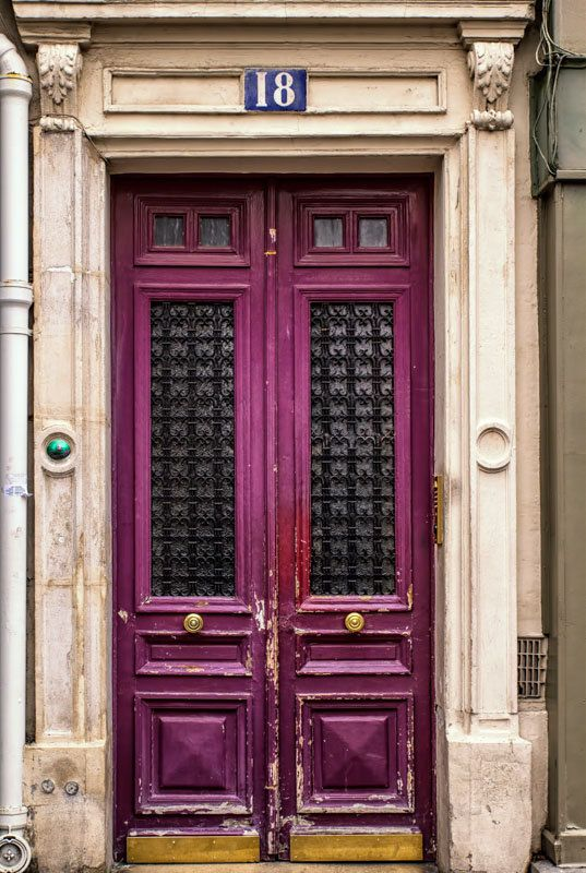 Paris Print Pink Door Paris House Picture for by GCFPhotography