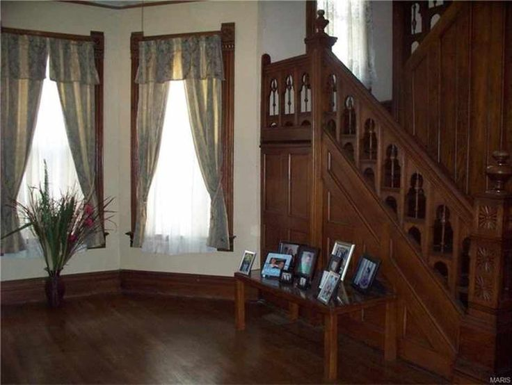 There's some amazing woodwork in this 1900 home for sale for $68K in MO.