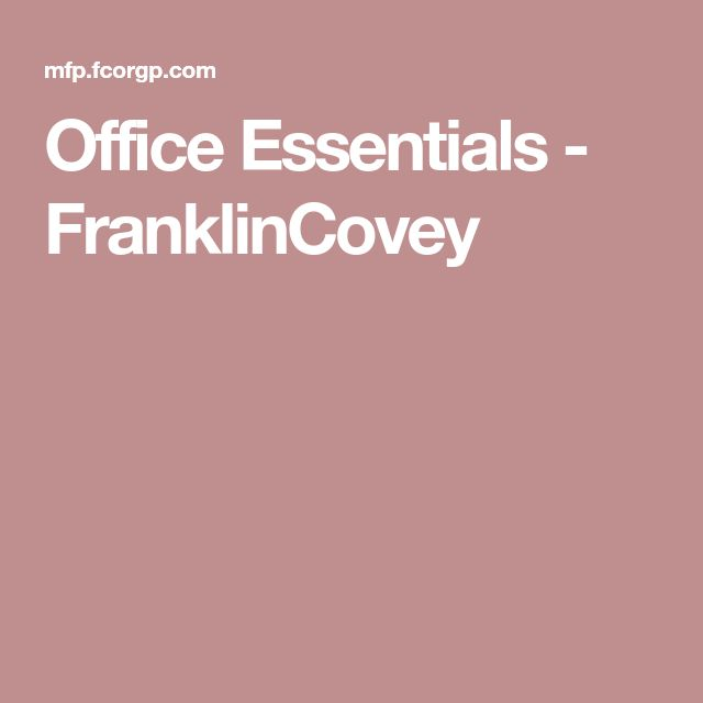 Office Essentials - FranklinCovey
