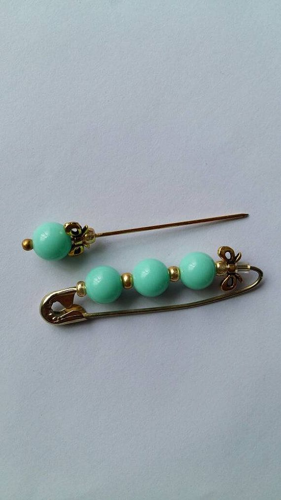 Check out this item in my Etsy shop https://www.etsy.com/uk/listing/454880228/sale-mint-green-safety-brooch-hijab-pin