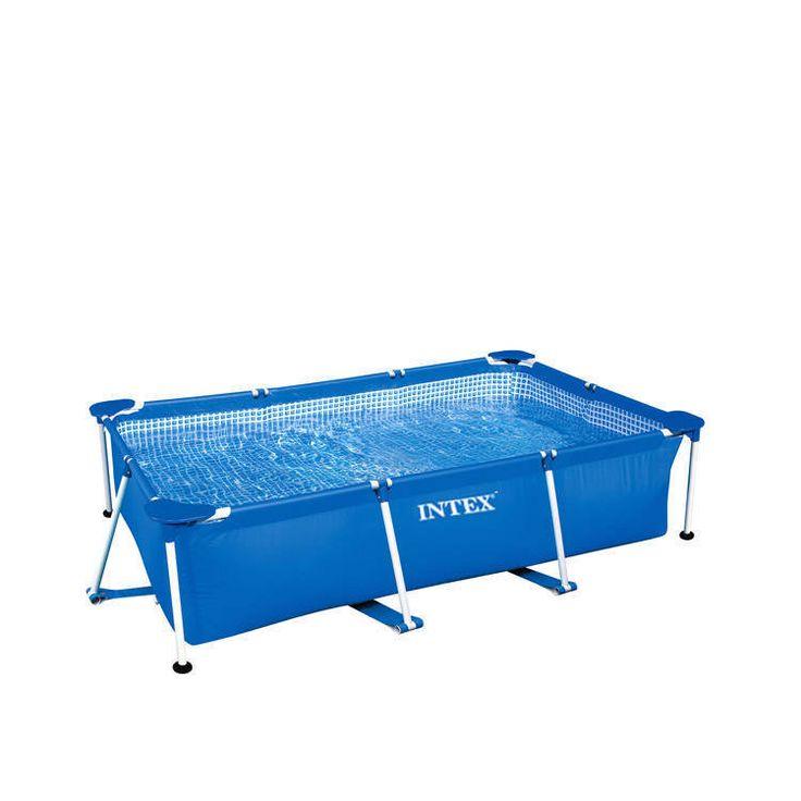 INTEX™ Metal Quadra Frame Pool 260 x 160cm - Intex Rechteck Pool / Stahlrohrbeck   eBay