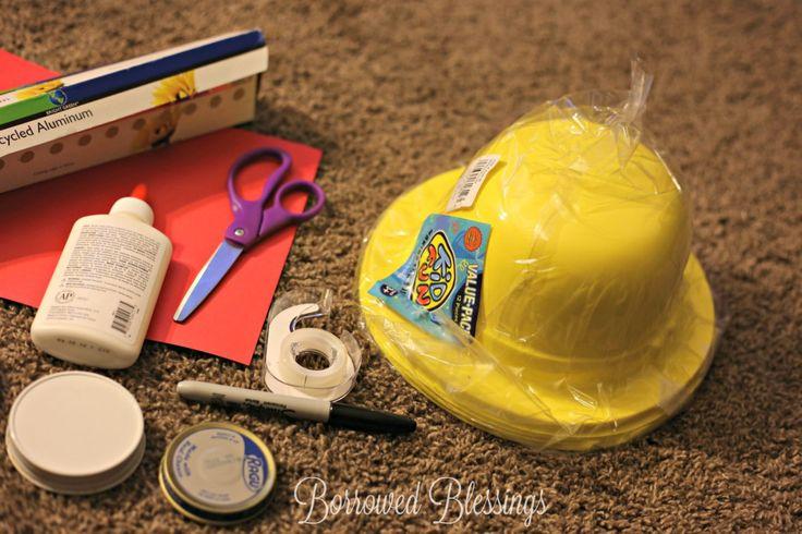 Frugal Cave Quest VBS Crafts - Spelunker Helmet - BorrowedBlessings