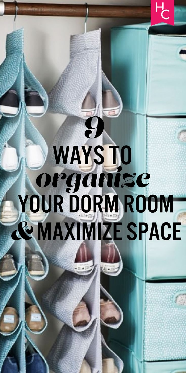 9 Ways to Organize Your Dorm & Maximize Space | Her Campus | http://www.hercampus.com/diy/decorating/9-ways-organize-your-dorm-maximize-space