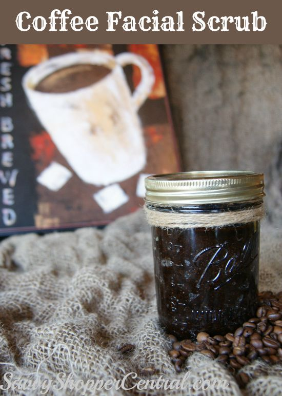 It takes two things to wake me up in the morning – washing my face & a cup of coffee.  This Coffee Facial Scrub will wake you up with its enticing aroma!