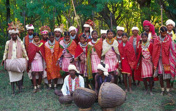 People from #Baiga ethnic community of #Chhattisgarh in central India  #travel #culture #India #tribal