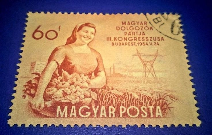 postage stamp of the Hungarian 3rd Congress: Woman with fruit