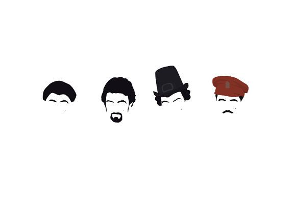 Blackadder / Rowan Atkinson Poster Minimal Artwork by comedyquotes. Explore more products on http://comedyquotes.etsy.com