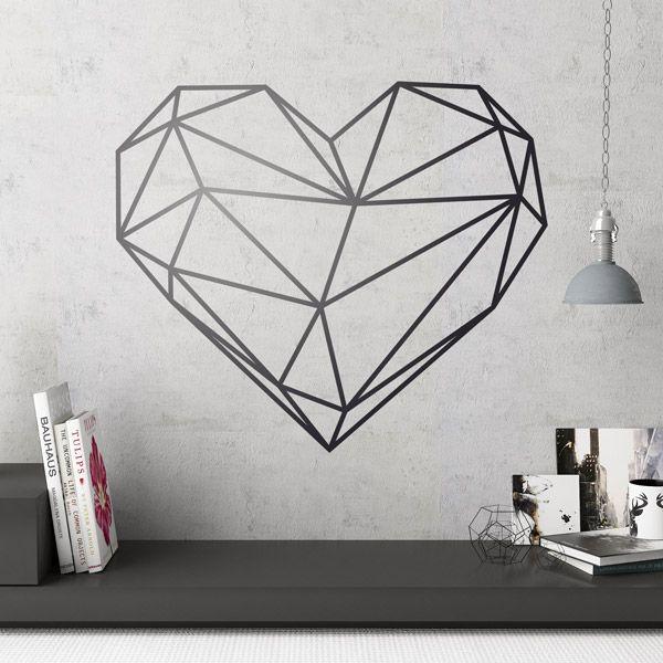 Vinilos Decorativos: Origami geométrico corazón #sanvalentin #valentin #decoracion #vinilo #pared #escaparate #tienda #deco #TeleAdhesivo
