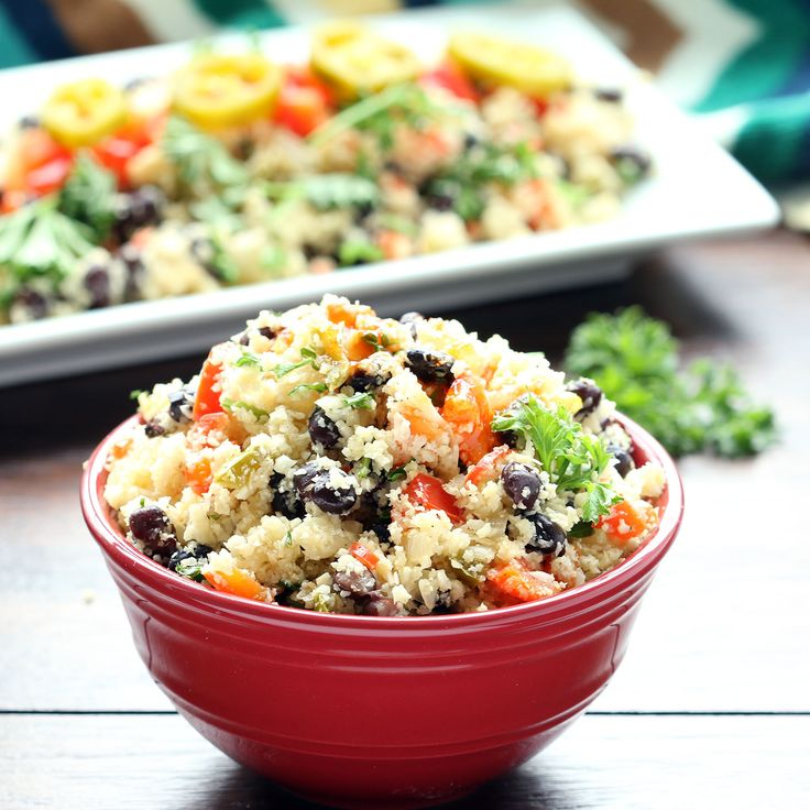 Black Beans and Cauliflower Rice (Gluten-Free, Vegan/Plant-Based)