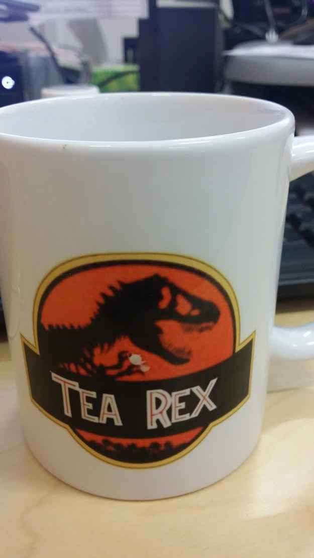 "36 Things Everyone Who Loves ""Jurassic Park"" Will Appreciate The joke on this mug that was 65 million years in the making."