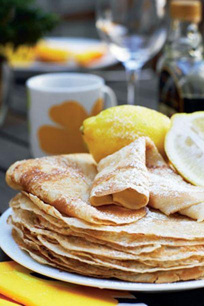 Pandekager - Pandekager med citron