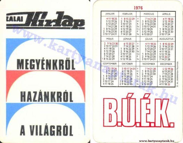 1976 - 1976_0815 - Régi magyar kártyanaptárak